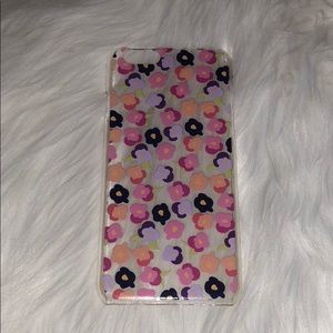 Accessories - Clear iPhone 6 case with pink and purple flowers